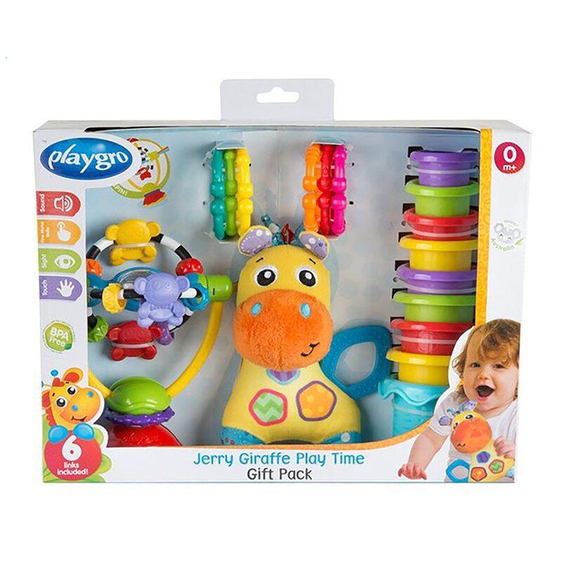 Dāvanu komplekts - žirafe Jerry, Playgro, 0187223
