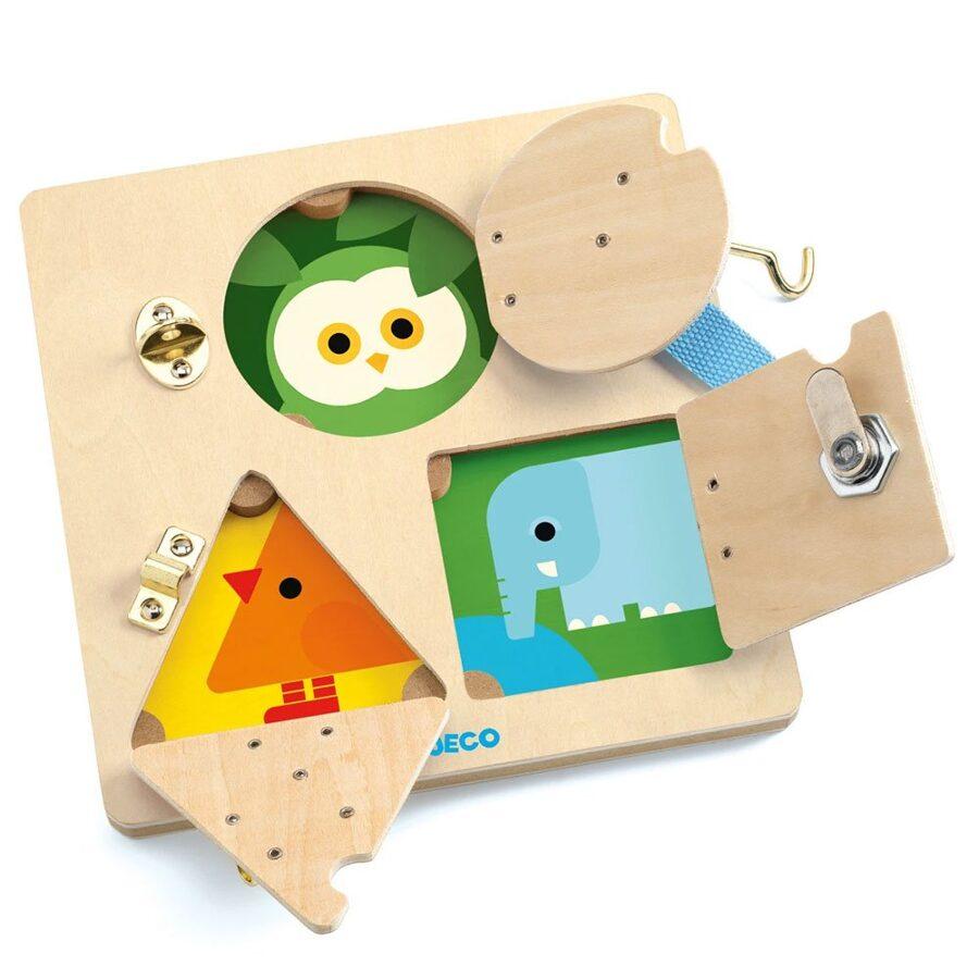 Attīstošā rotaļlieta - slēdznes, Djeco, DJ06213