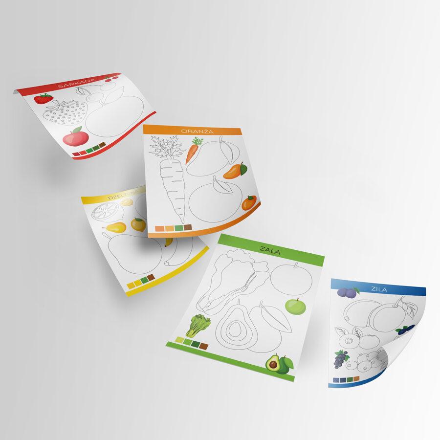 Krāsojamo lapu komplekts - Pazīsti krāsas!, A4, 28lpp., BeLoved