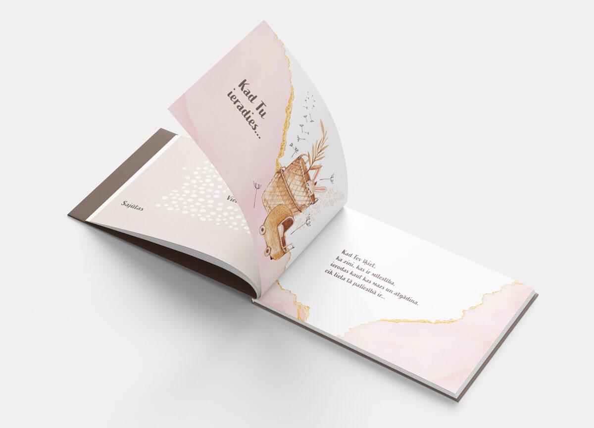 Mazuļas pirmā grāmatiņa - PIENEŅPŪKA, Soft Pink, BeLoved