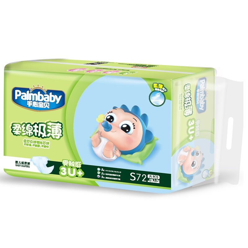 Autiņbiksītes Premium, S 3-7kg, 72 gab., Palmbaby