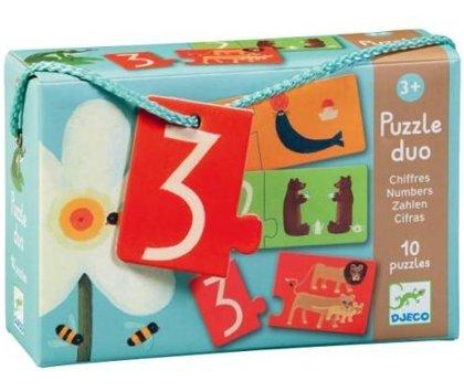 Divdaļīgā puzle - Skaitļi, Djeco, DJ08151