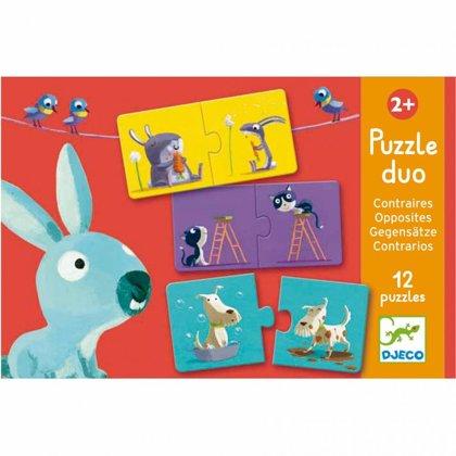 Divdaļīgā puzle - Pretstati, Djeco, DJ08162