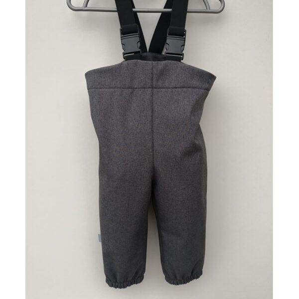 Softshell bikses ar regulējamām lencēm, pelēkas, 86-110, BB Collection