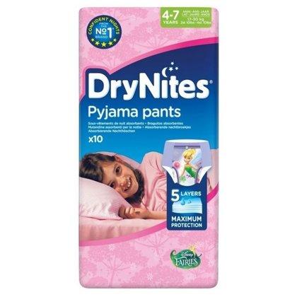 Autiņbiksītes Dry Nites, 4-7 gadi, meitenēm, Huggies