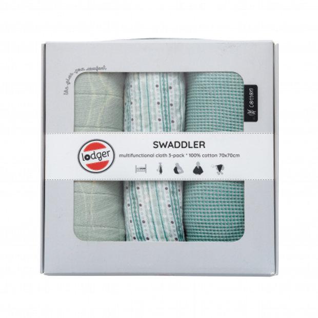 Kokvilnas autiņu komplekts Swaddler, Lodger, SWE081